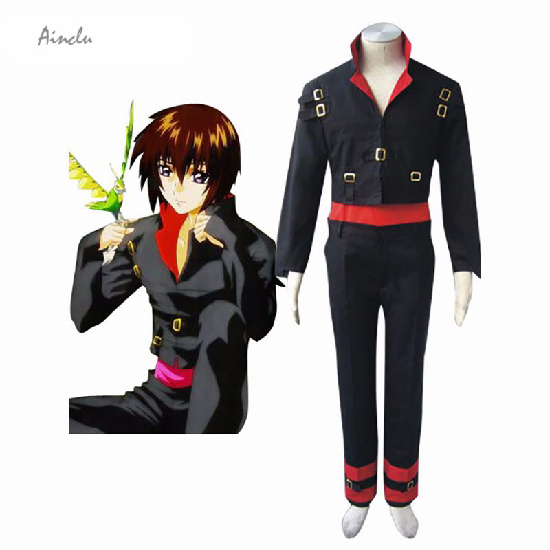 Ainclu Customize for adults New Black Male Kid Mobile Suit Gundam Seed/Destiny Kira Yamato Manga Cosplay Destiny Costume
