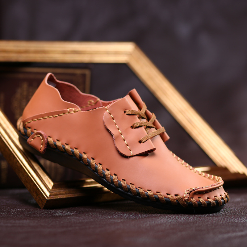 Fashion big size 38-50 men's genuine leather