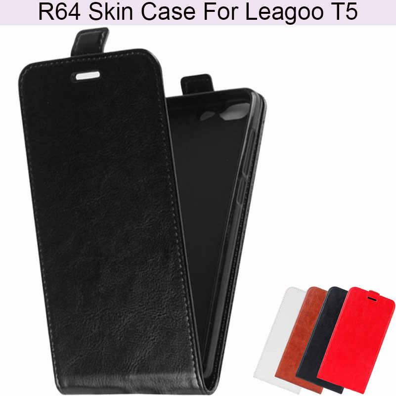 Акварель магнитных флип Роскошный элегантный R64 кожи чехол для телефона для leagoo T5