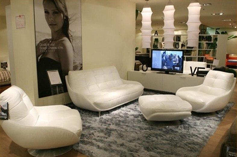 Besplatna dostava Luksuzni biserni sjajni kauč od prirodne kože - Namještaj - Foto 6