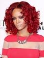 Рианна Прическа Средний Длинные Вьющиеся Рыжие Парики Из Синтетических Волос Жаропрочных Волос Афро-Американских Женщин Полные Парики
