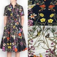 בד מודפס פרחוני, 100% בד כותנה נשים שמלת חולצה, בד כותנה פרחי בציר עבור DIY תפירת בגדים חומר