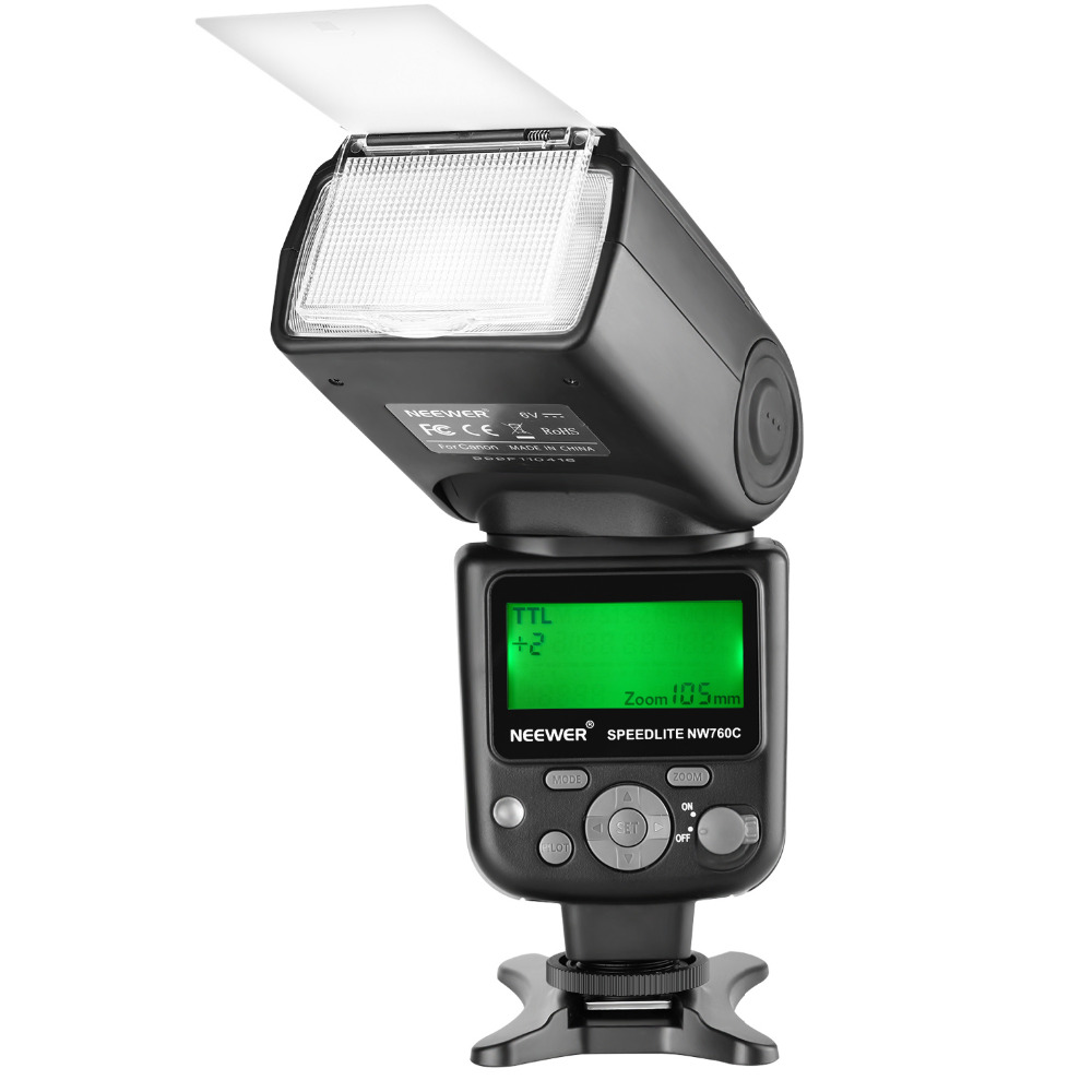 Neewer NW760 Remote TTL Flash Speedlite with LCD Display for Canon 7D Mark II, 5D Mark II III IV III IV 1300D 1200D 1100D 750DNeewer NW760 Remote TTL Flash Speedlite with LCD Display for Canon 7D Mark II, 5D Mark II III IV III IV 1300D 1200D 1100D 750D