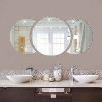 거실 침실 벽 장식 배경 장식 벽 스티커 거울 3d 스테레오 아크릴 벽 전사 술