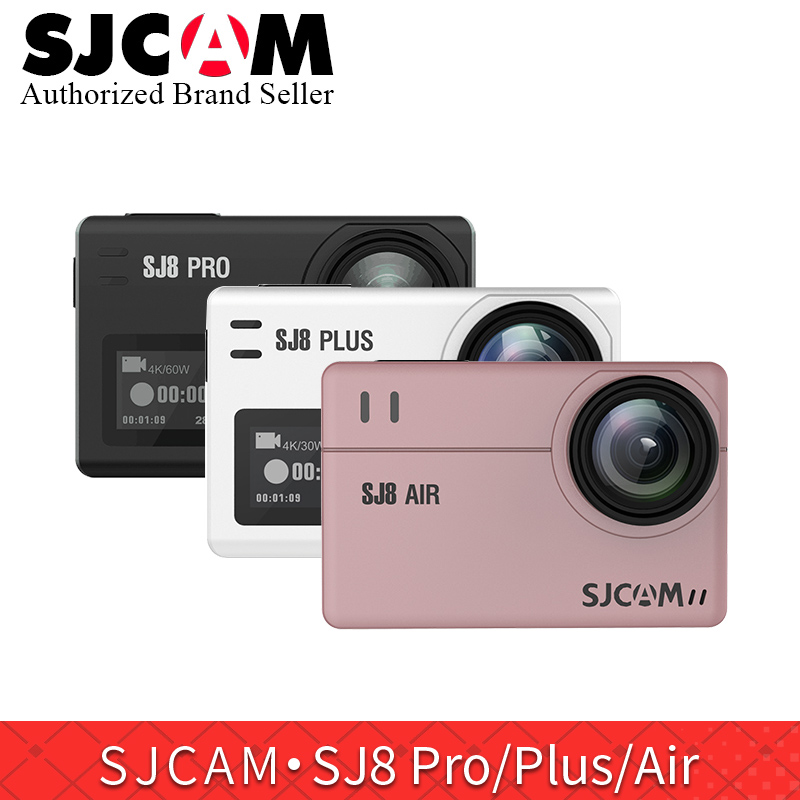 SJCAM SJ8 série SJ8 Air & SJ8 Plus & SJ8 Pro 1290 P yi 4 K caméra d'action WIFI télécommande étanche sport DV PK sj pro yi 4 k h9r