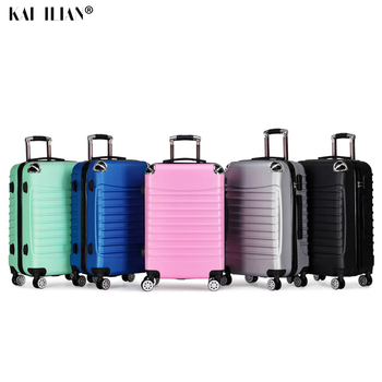 """20""""24 inch ABS travel rolling luggage fashion cabin suitcase on wheels Women trolley case carry on men spinner hardside luggage"""
