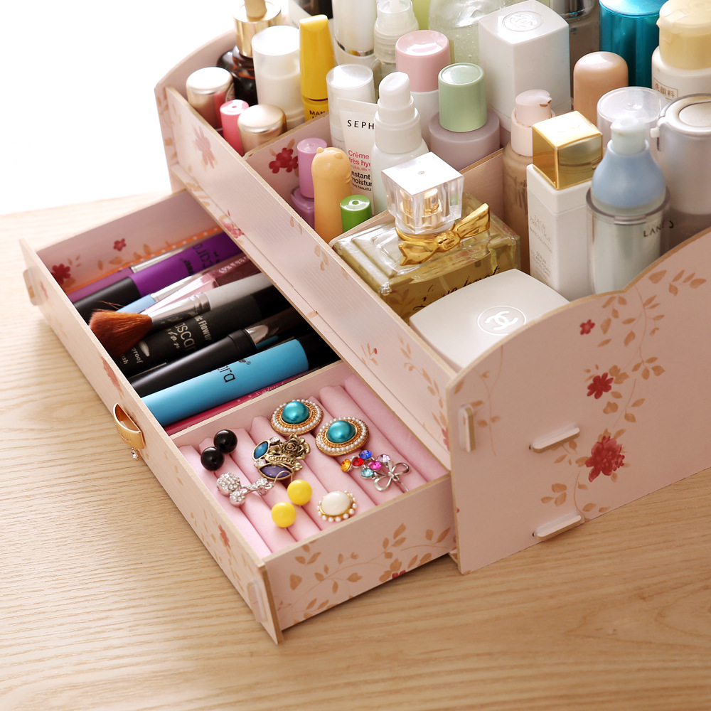 Aliexpress.com : Buy New Arrival Wood Drawer Makeup Organizer ...