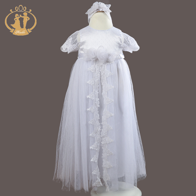 Nimble Newborn clothes Baby Christening Gowns White Baby Girl ...