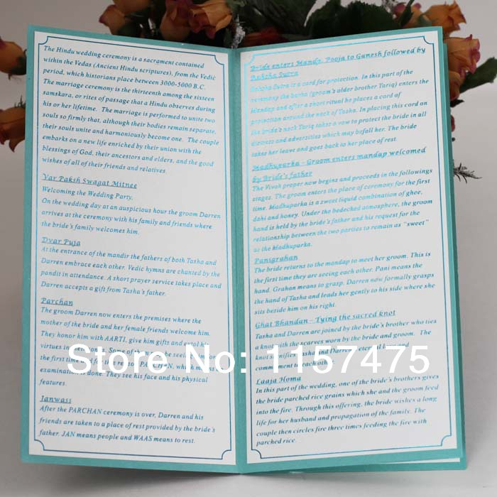 HI9004 Customized 4 Folded Wedding Programs Order Of Service With Ribbon In Cards Invitations From Home Garden On Aliexpress