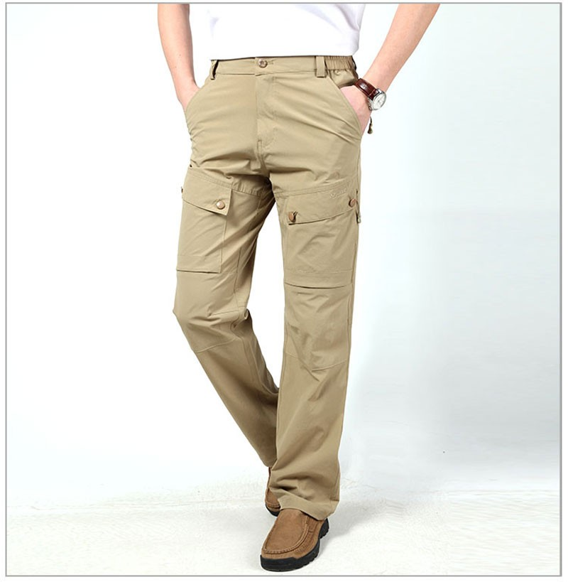 M~3XL 2016 New Spring Mens Plus Size Pants Quick Dry Breathable Long Short Trousers Man Straight Outdoor Waterproof Pantalones (11)