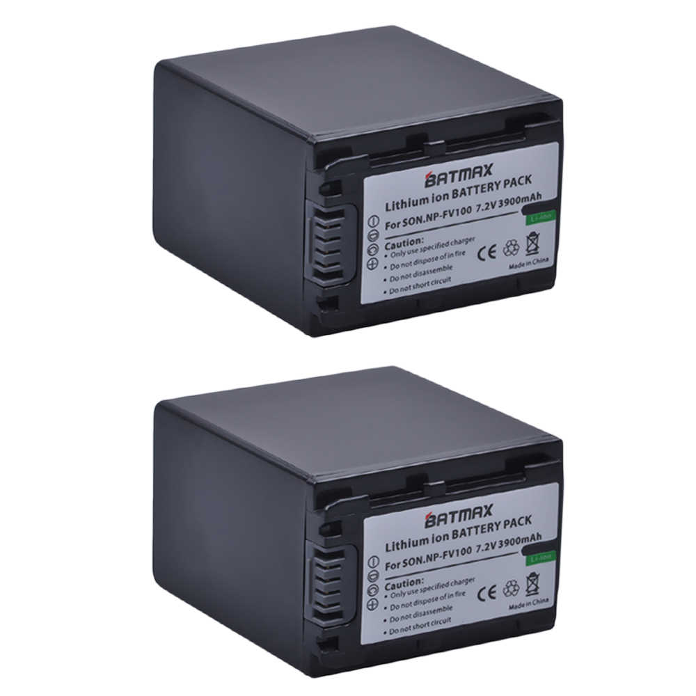 2 шт. 3900 мАч NP FV100 NP-FV100 FV100 Батарейки + ЖК-дисплей USB Зарядное устройство для sony NP-FV30 NP-FV50 NP-FV70 SX83E SX63E FDR-AX100E AX100E