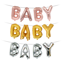 16 inch Baby Golden Silver Rose Gold Letter wedding decoration Crafts Bachelor party Decorative foil balloon Letters(China)