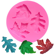 Mini Leaf Silicone Molds For Soap Silicone Cake Mold Cake Baking Mold Jelly Pudding Tools Cake Decoration Formas De Silicone DIY aya small round leaf cake molds