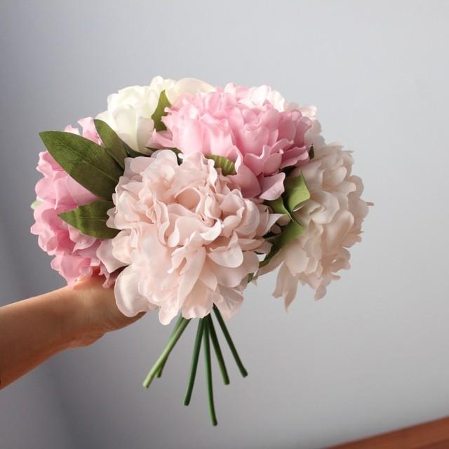 Silk Artificial Peony Bouquet