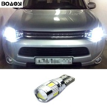 BOAOSI 1x T10 LED W5W Samsung 5630SMD Car LED Auto Lamp Light Bulbs For Mitsubishi asx lancer 10 outlander 2013 pajero l200 Expo