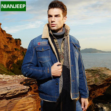 Loose Winter Jacket Men Parka Jeans Denim Coat Wark Thick New 2016 Brand NIANJEEP Windbreaker Military Bomber Fur Down Jackets