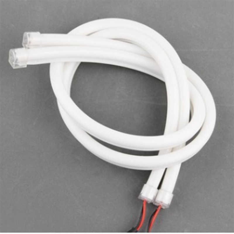 30cm 45cm 60cm 12V Luz de señal de giro Flexible silicona tiras de luz LED de coche Luz de circulación diurna tubo de luz AUTO DRL azul blanco amarillo