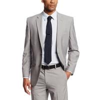Men Suits Gray Wedding Suits For Men Notched Lapel Grooms Tuxedos Two Button Groomsmen Suit Slim Fit (Jacket+Pants)