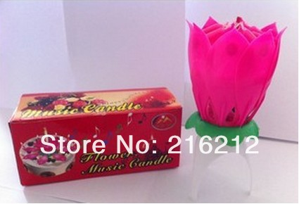 Wedding Birthday party gift Flower Music Candle Lotus style New Lotus Music Candles Lotus Petal