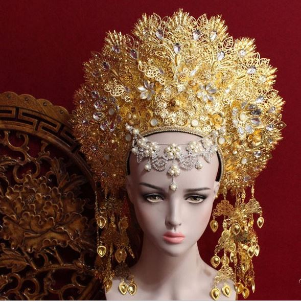 8 Designs Top Quality Thailand Royal Palace Princess Crown Chinese TV Play Fighter of The Destiny Queen Crown Ze Tian JiWomens Hair Accessories   -