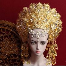 8 Ontwerpen Top Kwaliteit Thailand Koninklijke Prinses Haar Tiara Oude Chinese Kostuum Haar Accessoire Tv Play Koningin Haar Kroon Sieraden