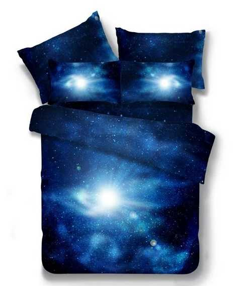 4pcs 3d Galaxy Bedding Sets Universe Outer Space Themed Bedspread Bed Linen Bed Sheets Pillowcase Duvet Cover Set