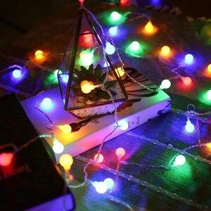Image 5 - 10 متر 20 متر 30 متر 50 متر 220 فولت الجنية جارلاند LED الكرة سلسلة أضواء مقاوم للماء مصباح للزينة لشجرة عيد الميلاد لوازم ديكورات زفاف للمنزل