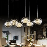 Wine Glass Ceiling Light NEW Modern 6 Light Crystal Glass Clear Wineglass Lamp bedroom dining room crystal lamp crista led FG784