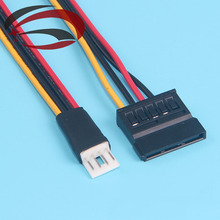 5pcs/lot---4Pin FDD Floppy Male to 15Pin SATA Female Adapter Converter Hard Drive Power Cable Cord 20cm