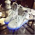 2016 Зима Привела Обувь Для Взрослых Кроссовки Chaussure Lumineuse Usb Растет Светильник Zapatillas Con Luces Алмазные Повседневная Обувь продажа