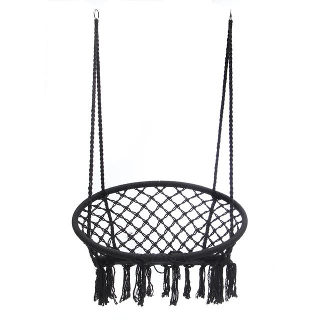 Swing Hanging Chair – Black (no hanging tools)