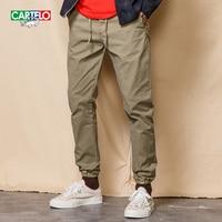 CARTELO Hommes Mince Droite Classique Casual Pantalon 2017 Nouvelle Mode Stretch Coton Chino Pantalon long Pantalon K7KPZ1811