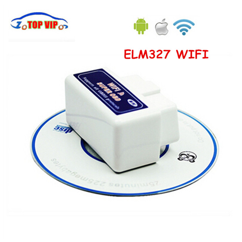 10pcs/lot Top selling SUPER MINI ELM327 WIFI OBD2 Scanner V1.5 Smart Car Diagnostic Inte ...
