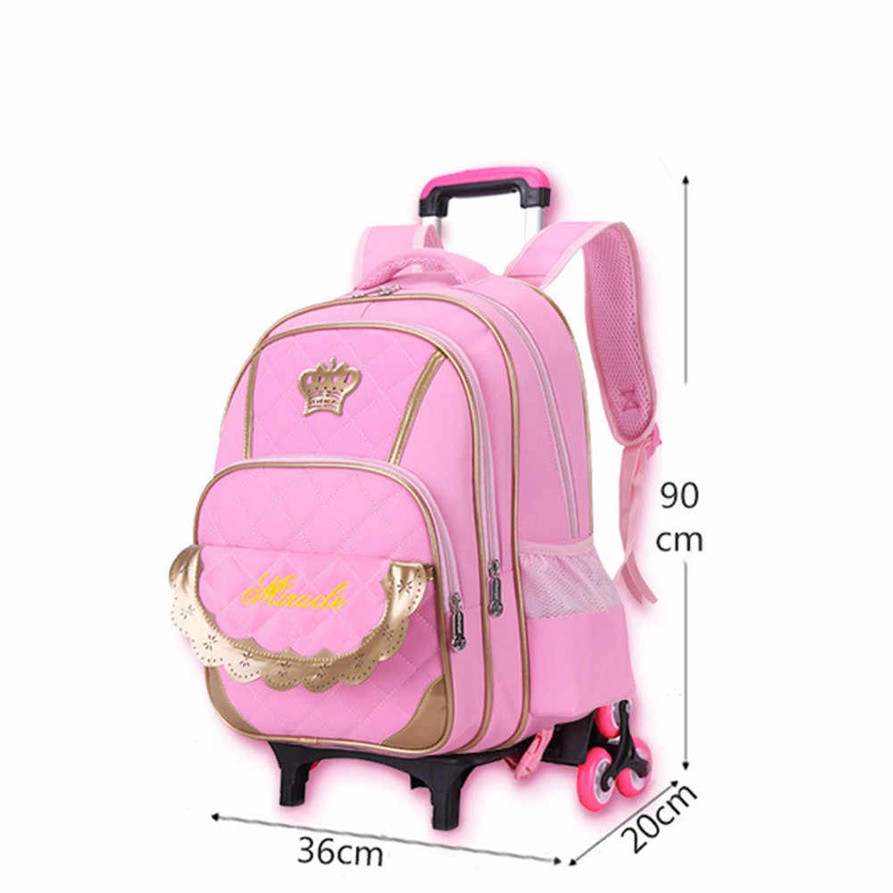 7010d6a636 ... Hot Sale Trolley Backpack Girls Wheeled School Bag Children Travel  Luggage Suitcase On Wheels Kids Rolling ...