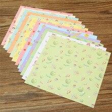 Papier Origami carré à motif Floral 72 pièces/ensemble mignon, papier plié simple face pour enfants, bricolage artisanal, motif de décoration pour Scrapbooking au hasard