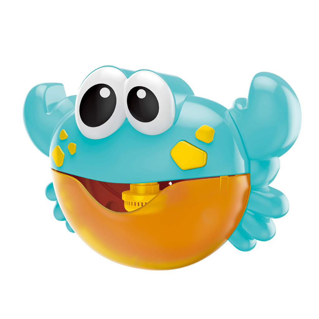 Kids Portable Bubble Blower Toy Automatic Crab Frog Bubble Maker Machine For Baby Toddlers