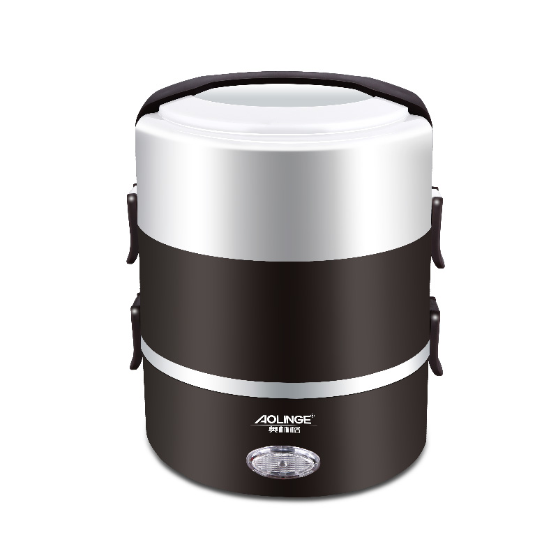 Electric Lunchbox Rice Cooker Three Layers Portable Plug In Insulation Heating 2L 1-2 People electric lunchbox rice cooker three layers hot rice cooker cooking lunch box plug in heating insulation 2l 1 2 people