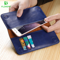 Original Floveme Universal Real Leather Wallet Case For Iphone 6 Plus 6s 6 5s 5c 5