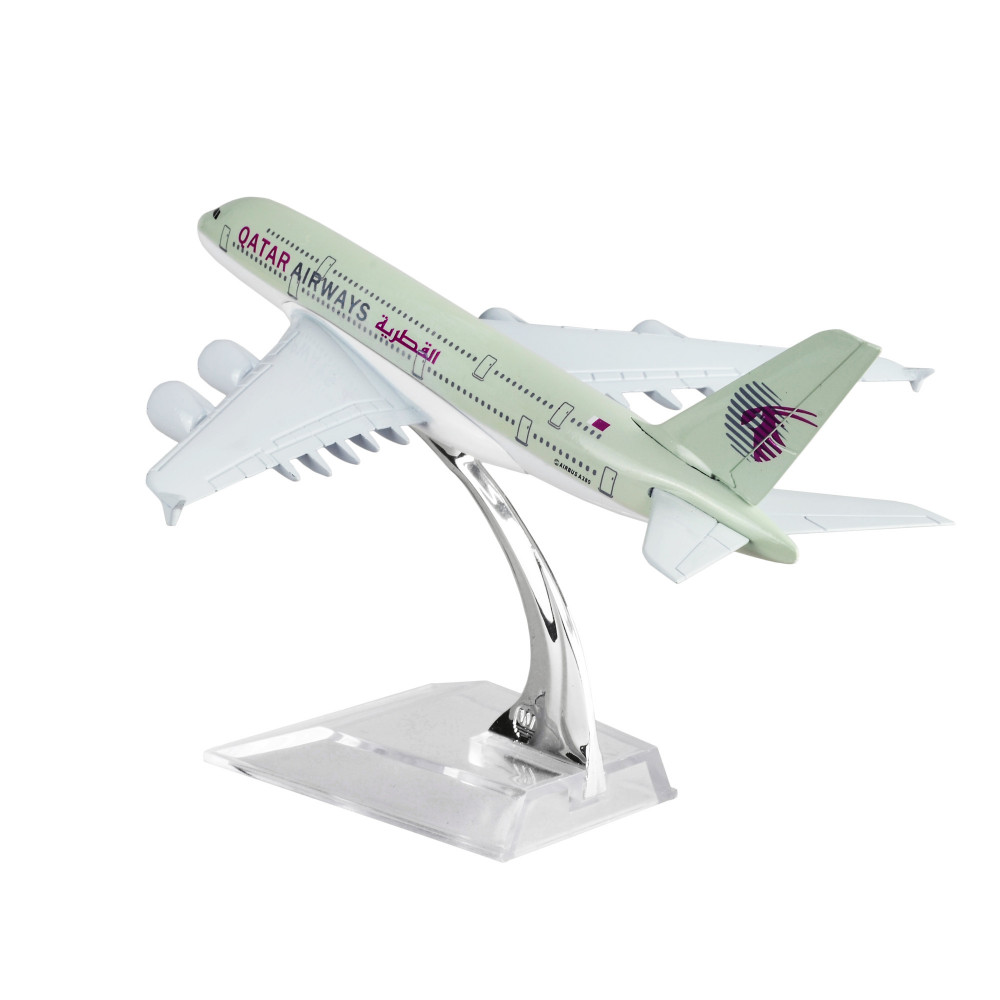 US $11 99 |Qatar Airways Company Q C S C  A380 16cm Model Airplane Kits  Birthday Gift Plane Models Toys Free Shipping Christmas gift-in Diecasts &  Toy