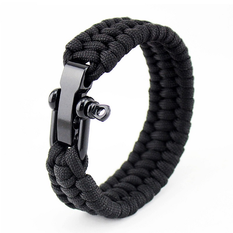 Multifunction Emergency Rescue Paracord For Men Survival Bracelet Tactical Climbing Rope Outdoor Parachute Cord Accessories