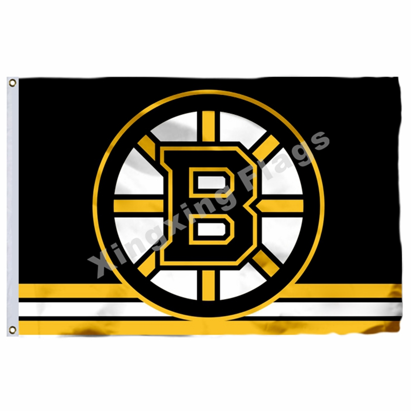 Boston Bruins Flag 3ft X 5ft Polyester NHL Banner Boston Bruins Flying Size No.4 144* 96cm ...