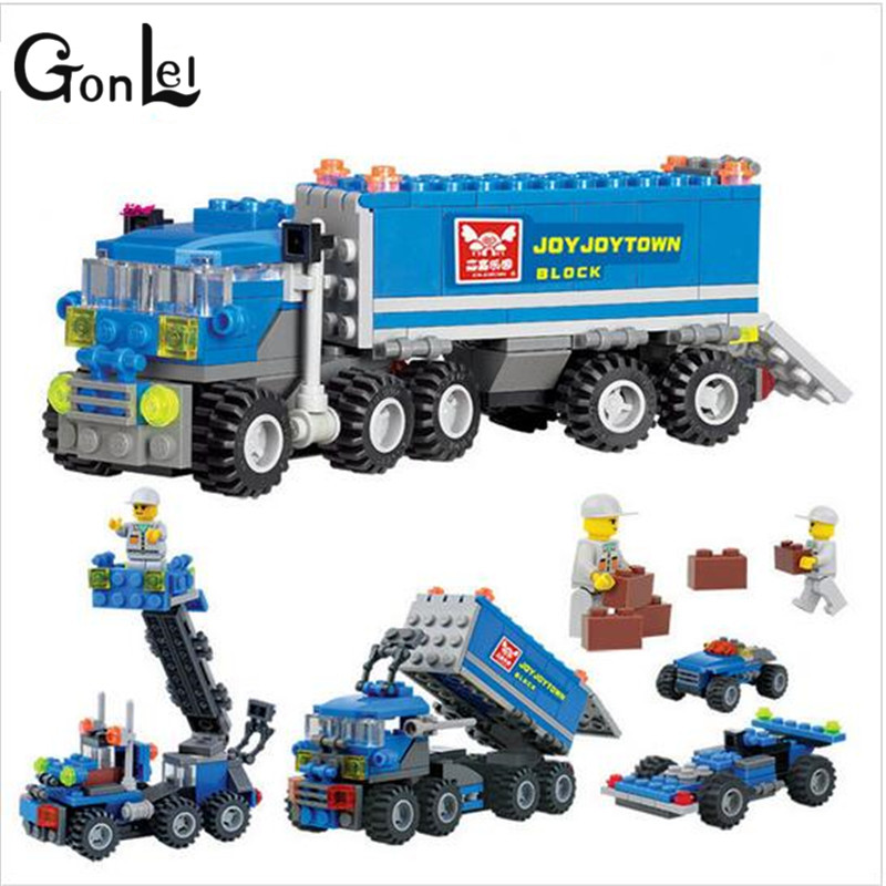 GonLeI 163pcs KAZI kids Christmas gift Enlighten educational toys Dumper Truck DIY toys building blocks,children toys 163pcs set kids bricks birthday gifts enlighten child educational toys dumper truck diy toys building blocks set