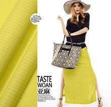 Yellow dark linen texture pattern density feeling fine linen silk fabric width vintage dressmaking Skirt materials 5 Yards H701