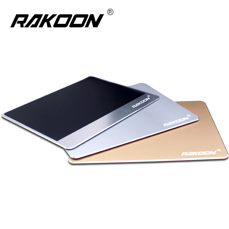 Rakoon Aluminium Alloy Mouse Pad 3 Sizes Gaming Mouse Mat Creative Metal Mousepad For LOL alloyseed qi wireless charger charging 2 4ghz gaming mic mouse mousepad mat w 3 color light