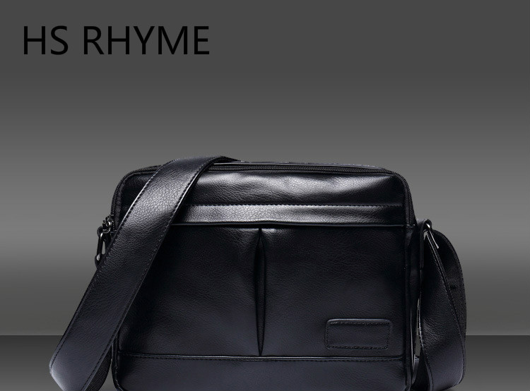 HS RHYME High Quality Men Messenger Bags Fashion Trend School Casual Single Shoulder Satchel Male Cross Body Bag For Traveling new 2017 sping waterproof male casual oxford fabric commercial messenger bags high quality brand design cross body bags for men