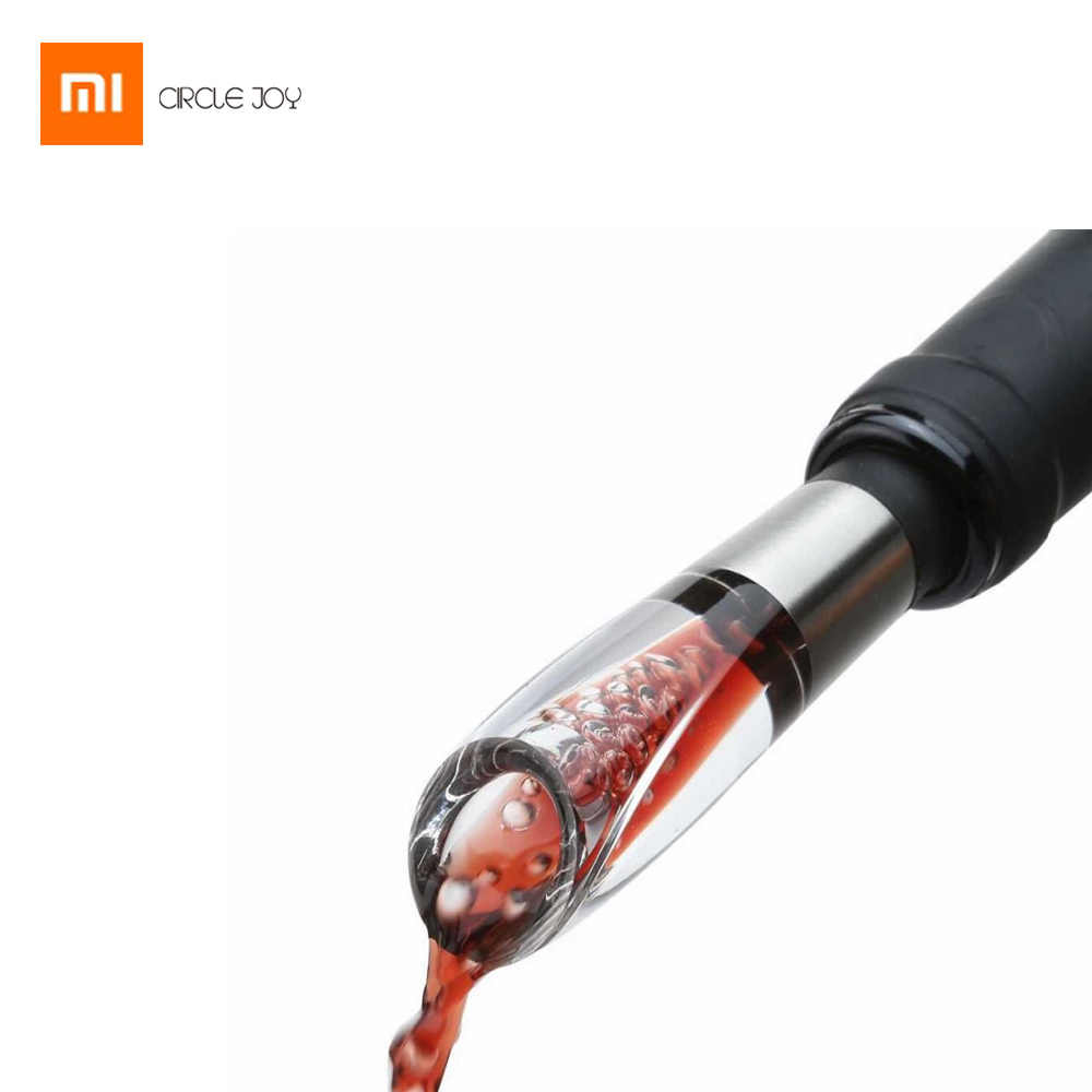 Original Xiaomi CIRCLE JOY Stainless Steel Fast Decanter Portable Mini Wine Accessories Wine Decanter Wake-up Utensil For Family