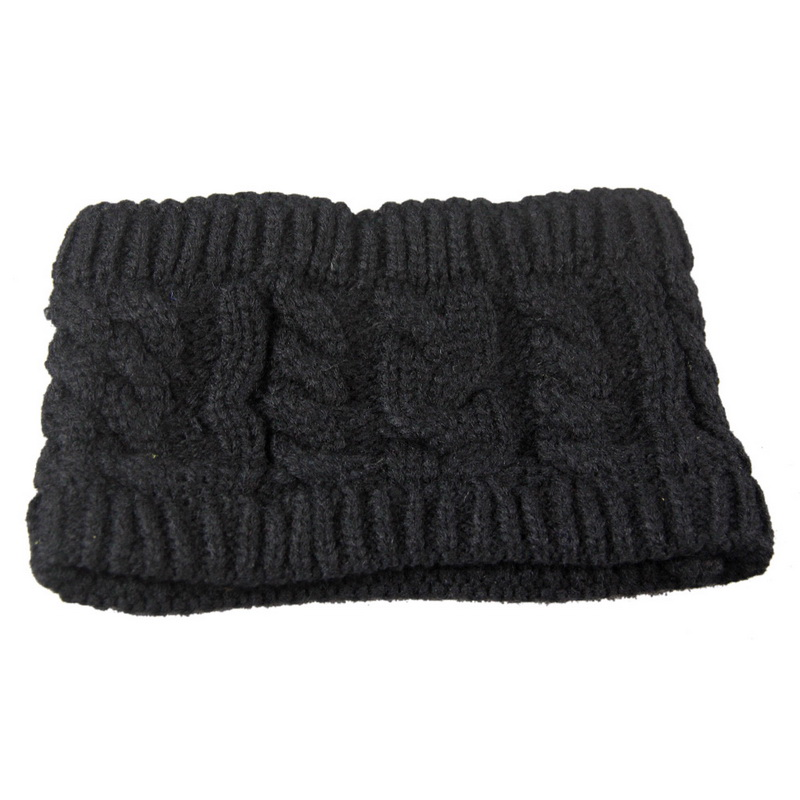 NIBESSER Fashion Snowboard Warm Knitted Cap Snap Skullies Bonnet Beanie  No Top Wool Hat Women Multi-purpose Hat 96