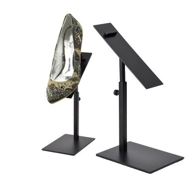 free shipping Black metal shoes display rack bracket riser bracket stand stainless steel shoe stand holder free shipping black color copper colour headphone stand holder aluminum alloy headphone display stand earphone stand