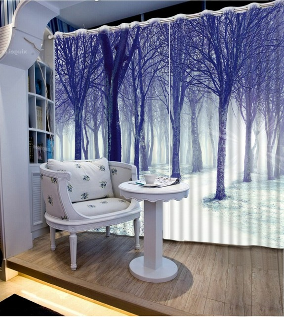 Zdjecie Druk Zaslony Drzewa Las Krajobraz Salon Sypialnia Zaslony