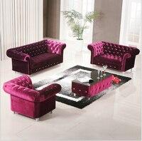 high quality European living room sofa fabric velvet 7216